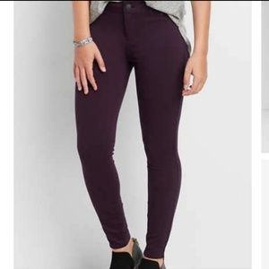 Maurices Purple Ankle Skinny Jeans Size 6 Denim